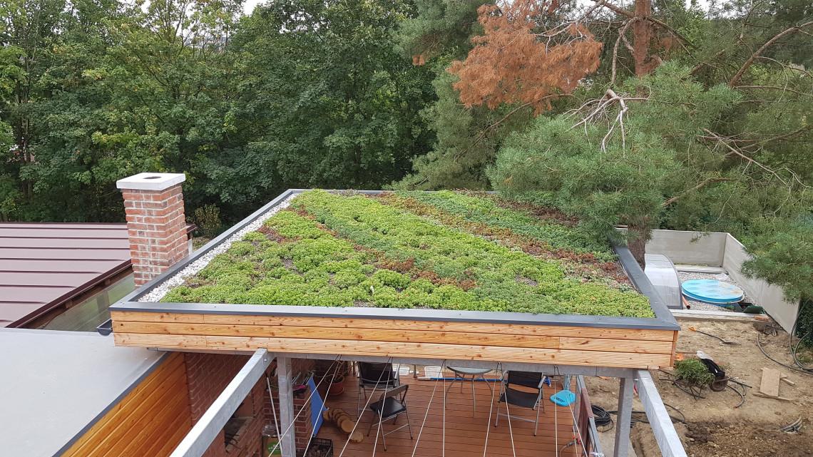 Zelená střecha Plzeň