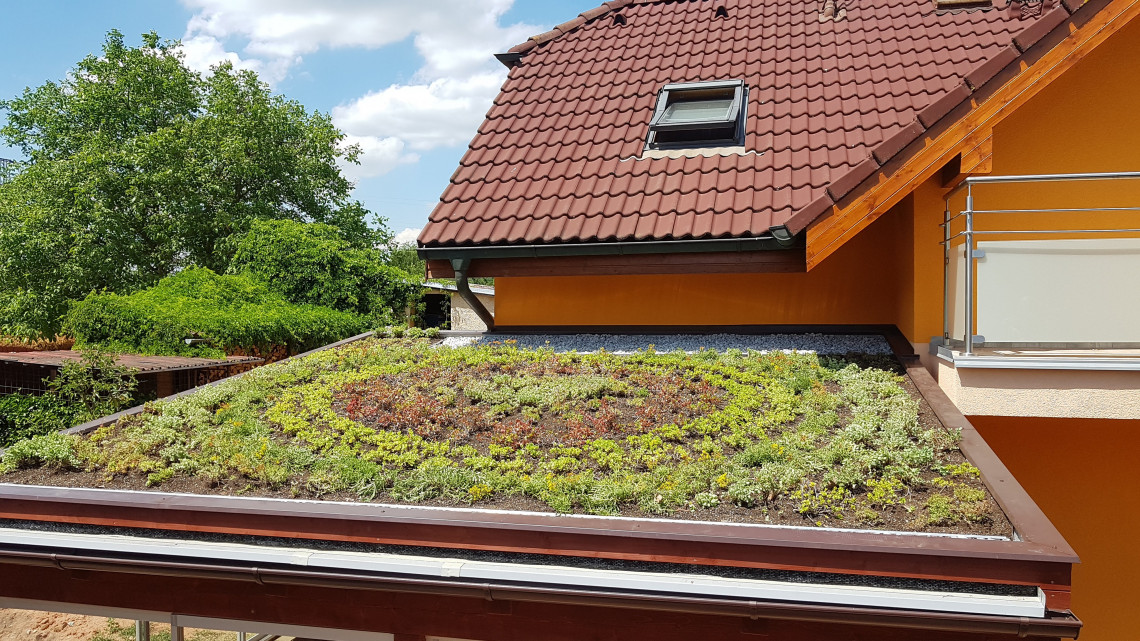 Zelená střecha Líně